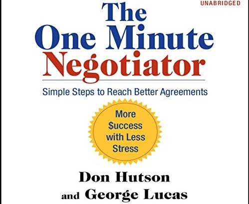 Image of book cover of One Minute Negotiator