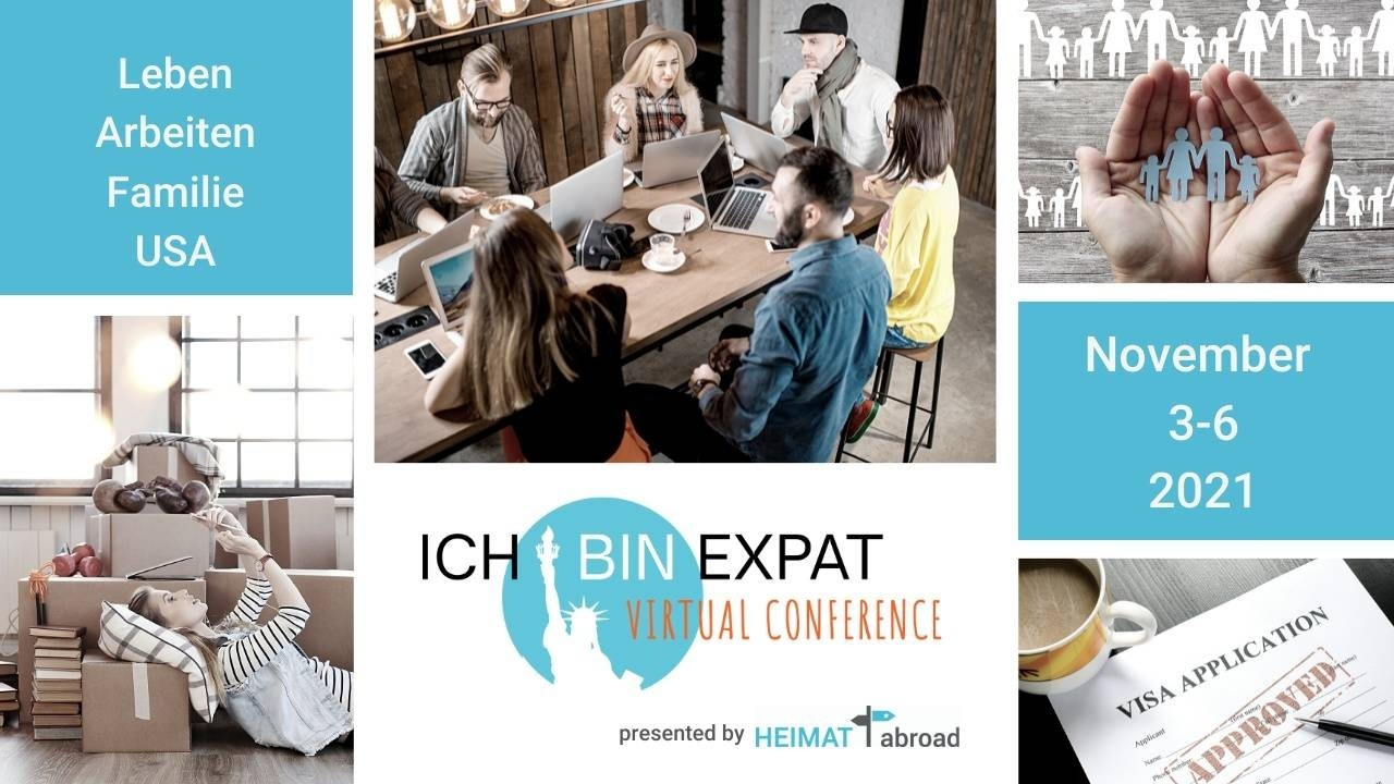 Collage ICH BIN EXPAT Virtual Conference