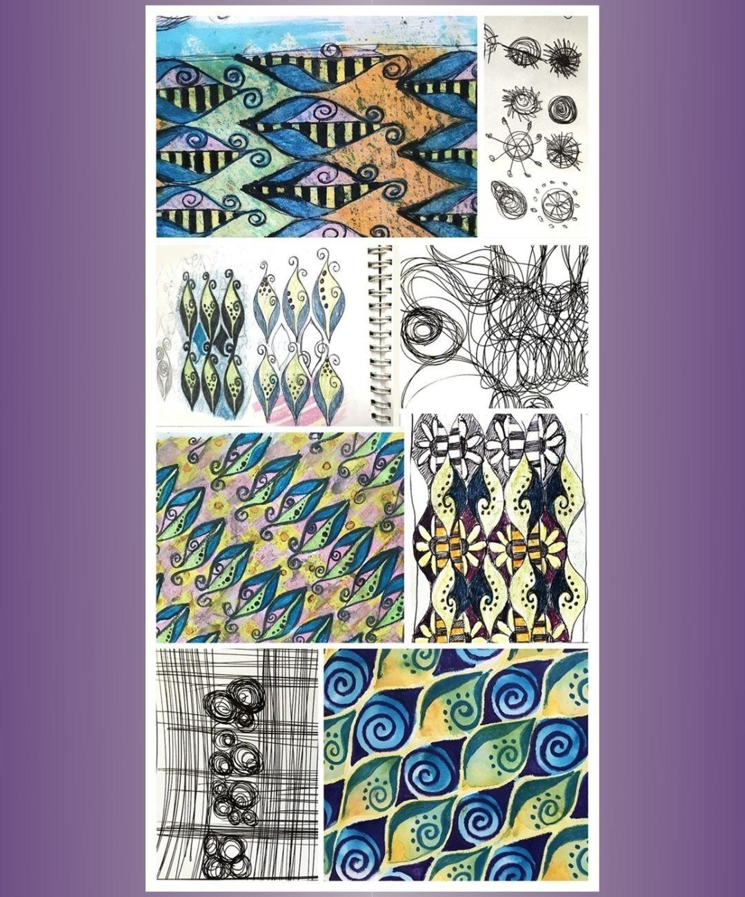 Creative mandala doodle