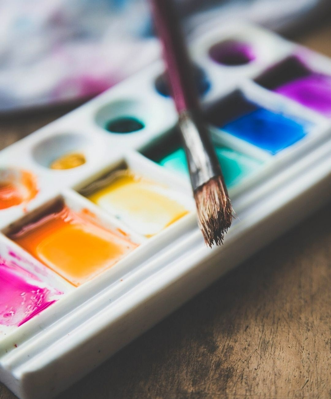 Paint in a palette
