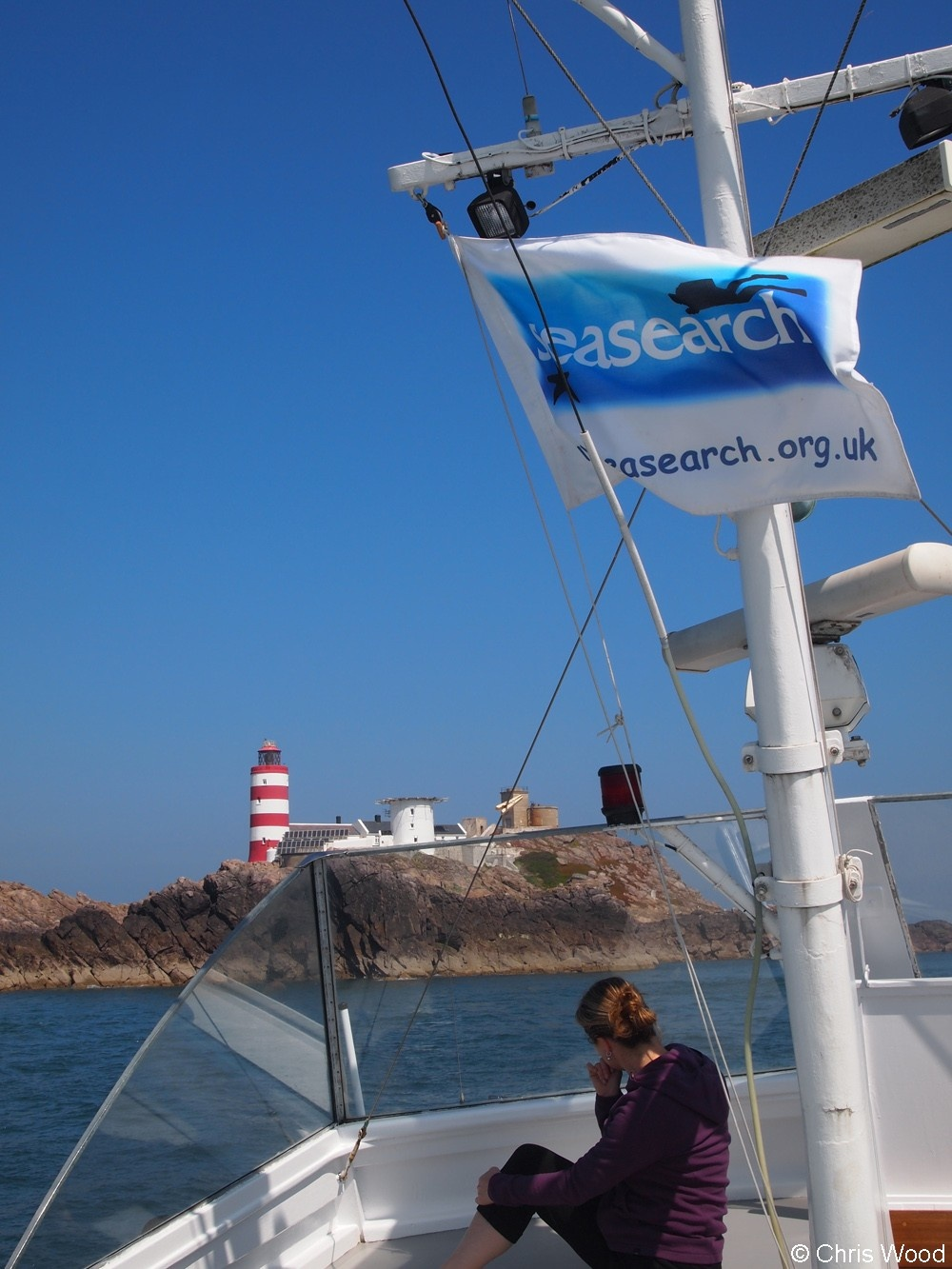 Dive boat during a Seasearch survey trip