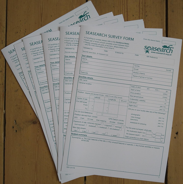 Seasearch Surveyor forms