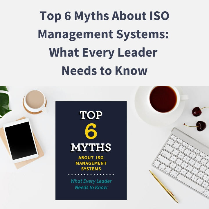 Top 6 Myths download printed out and on a desk
