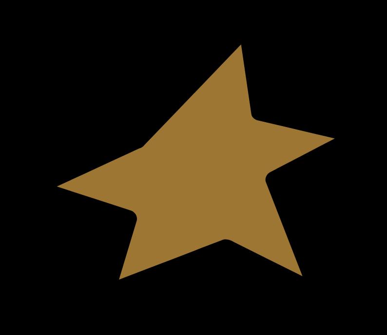 shining gold star