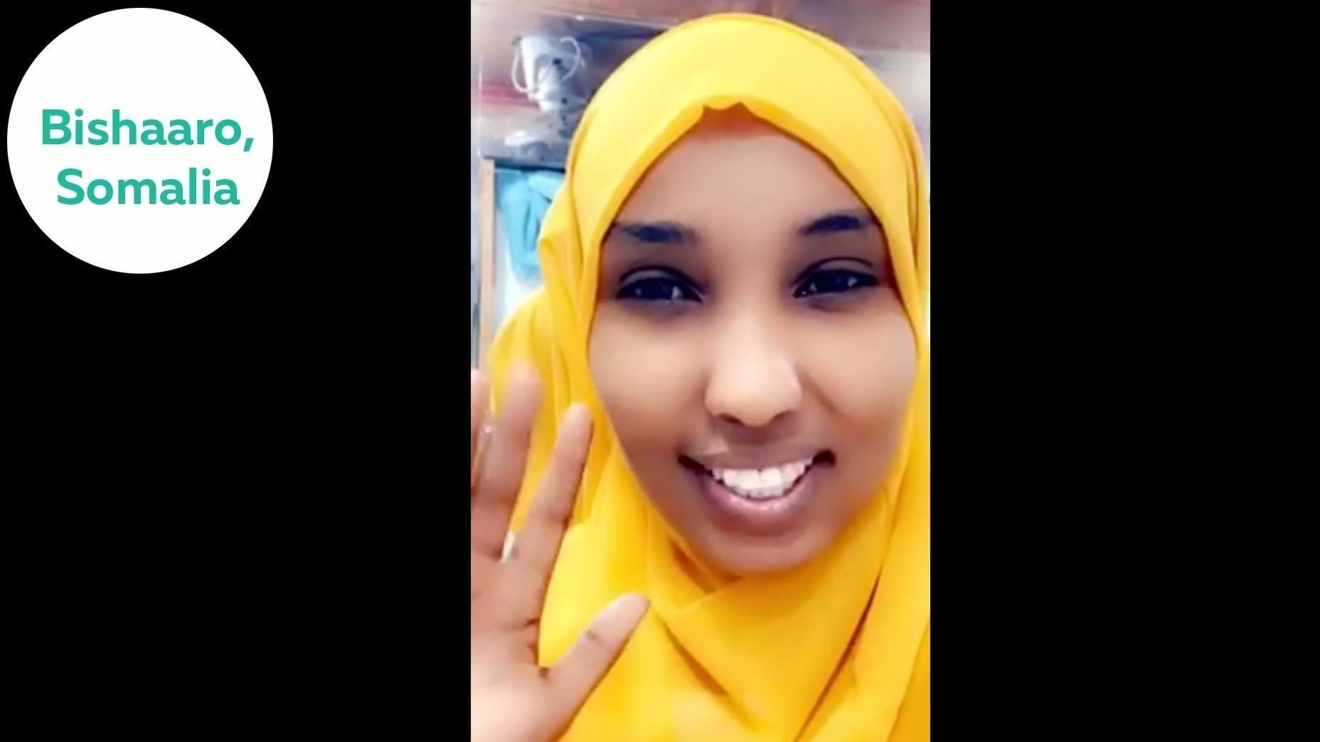 Bishaaro from Somalia cshares her success story after joining the English-Everyday speaking course