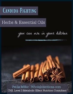 cinnamon sticks on candida herb ebook cover