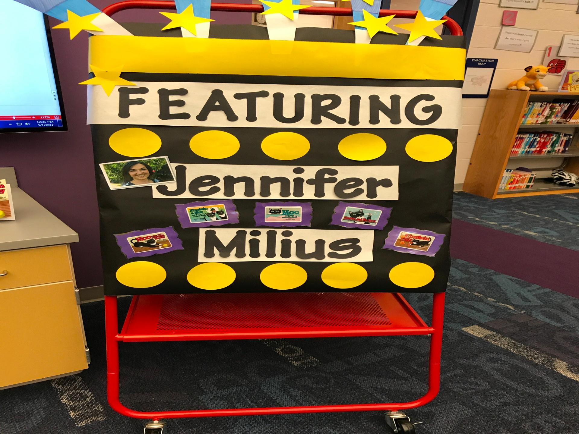 Pioneer Elementary School Author Visit with Jennifer Milius