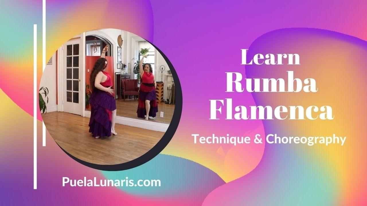 Learn Rumba Flamenca Online. Barefoot Flamenco. No shoes needed