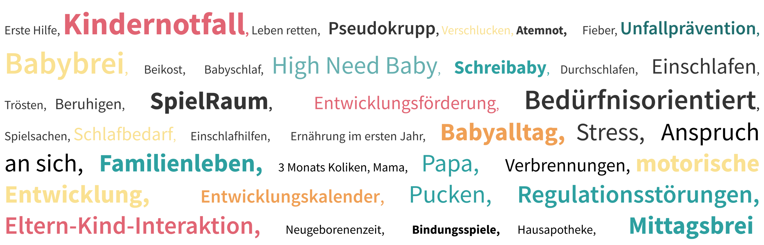 Erste Hilfe, Kindernotfall, Leben retten, Pseudokrupp, Verschlucken, Atemnot, Fieber, Unfallprävention, Babybrei, Beikost, Babyschlaf, High Need Baby, Schreibaby, Durchschlafen, Einschlafen, Trösten, Beruhigen, SpielRaum, Entwicklungsförderung, Bedürfnisorientiert, Spielsachen, Schlafbedarf, Einschlafhilfen, Ernährung im ersten Jahr, Babyalltag, Stress, Anspruch an sich, Familienleben, 3 Monats Koliken, Mama, Papa, Verbrennungen, motorische Entwicklung, Entwicklungskalender, Pucken, Regulationsstörungen, Eltern-Kind-Interaktion, Neugeborenenzeit, Bindungsspiele, Hausapotheke, Mittagsbrei