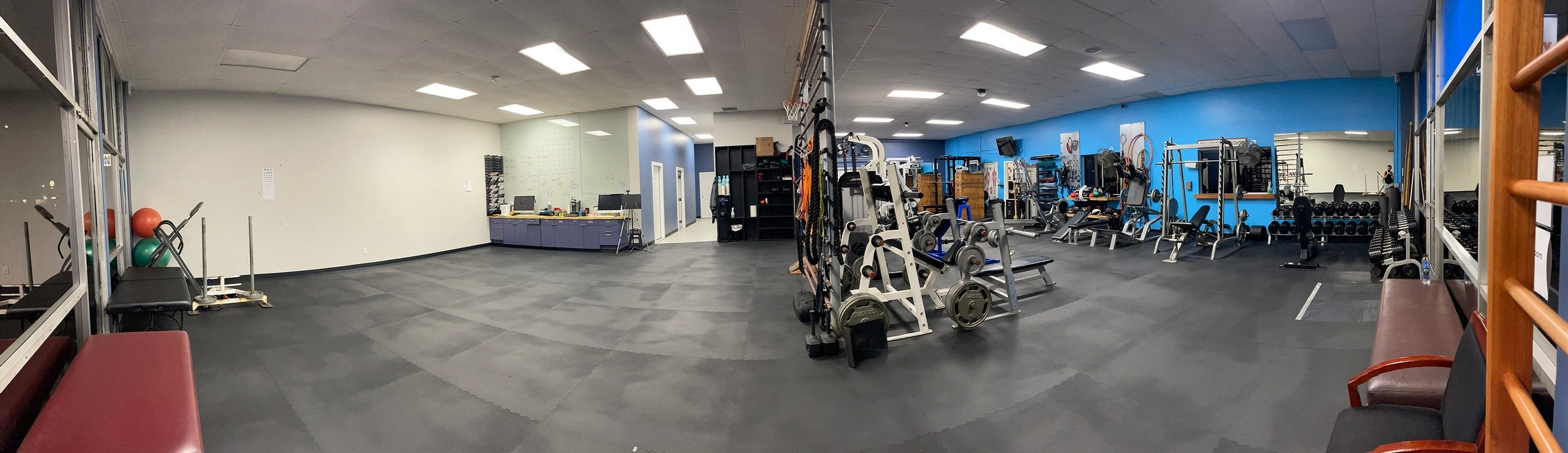 interior of S10 Fitness facility in San Diego, California