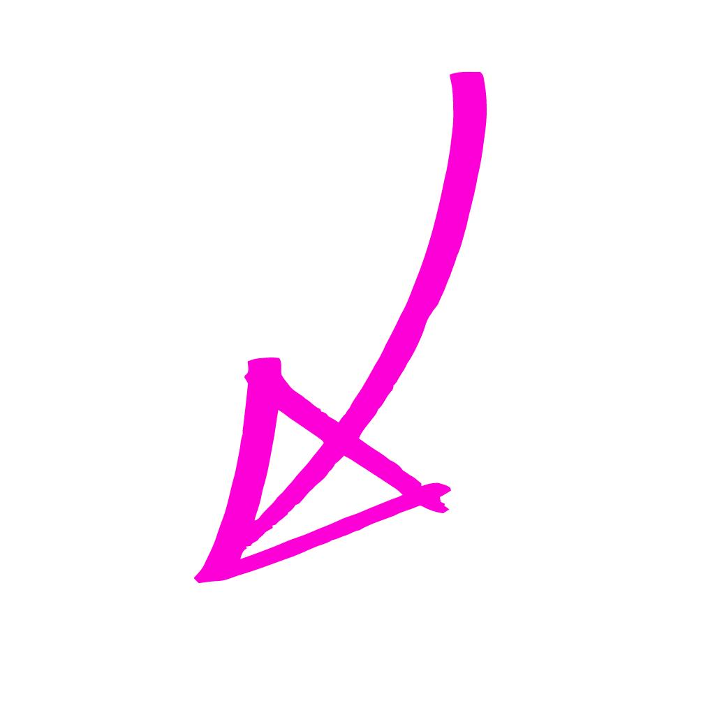 pink arrow toward the email address