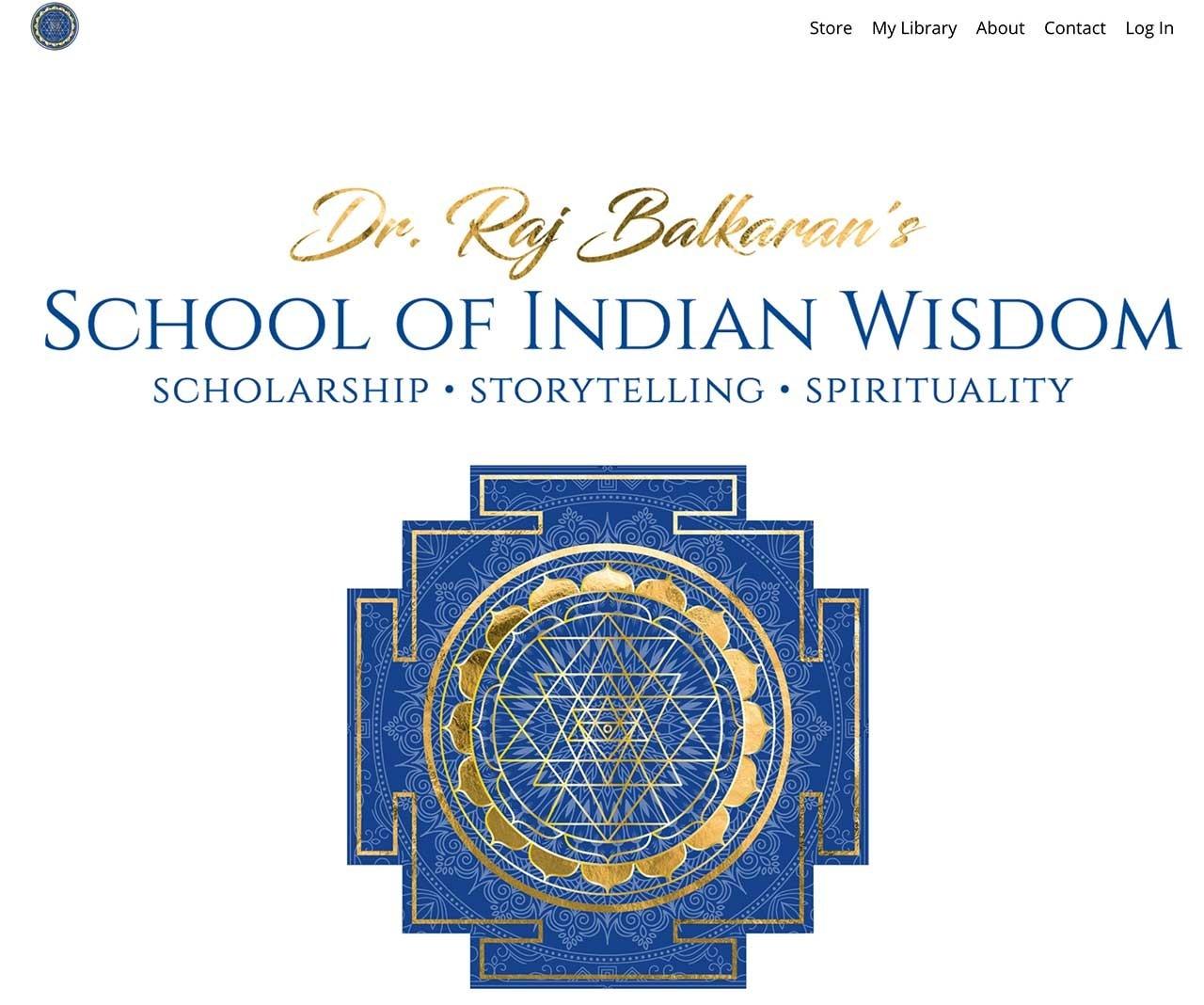 School of Indian Wisdom is built on the Kajabi Platform