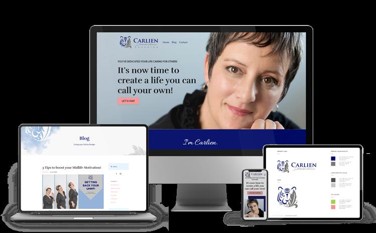 Carlien website design