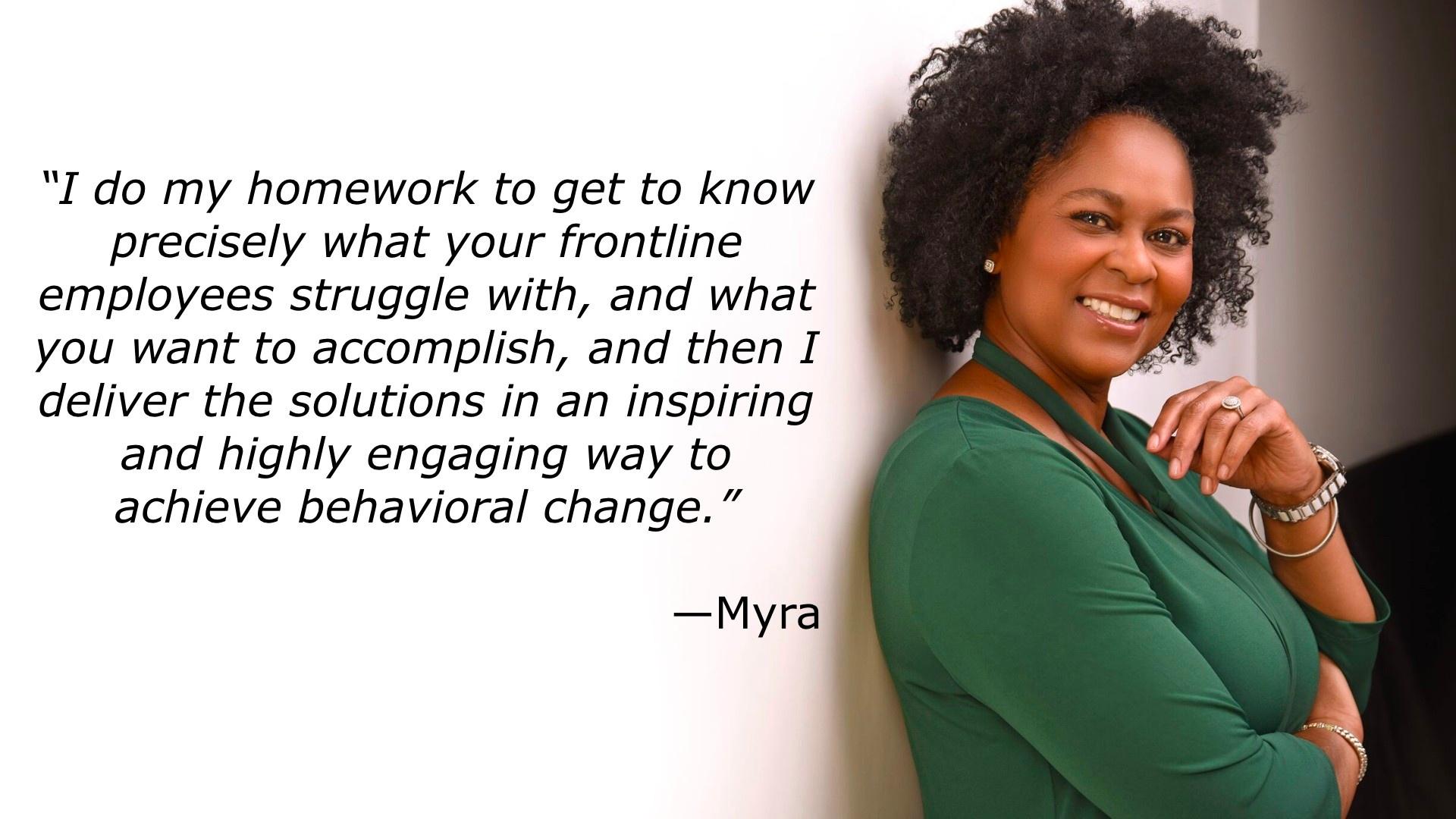 Myra against white background