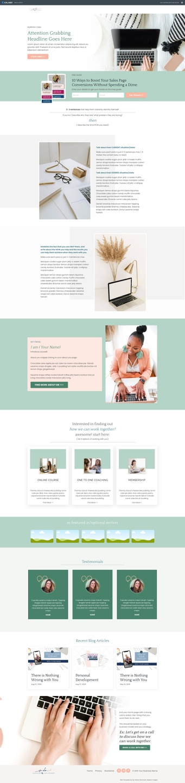kajabi home page template