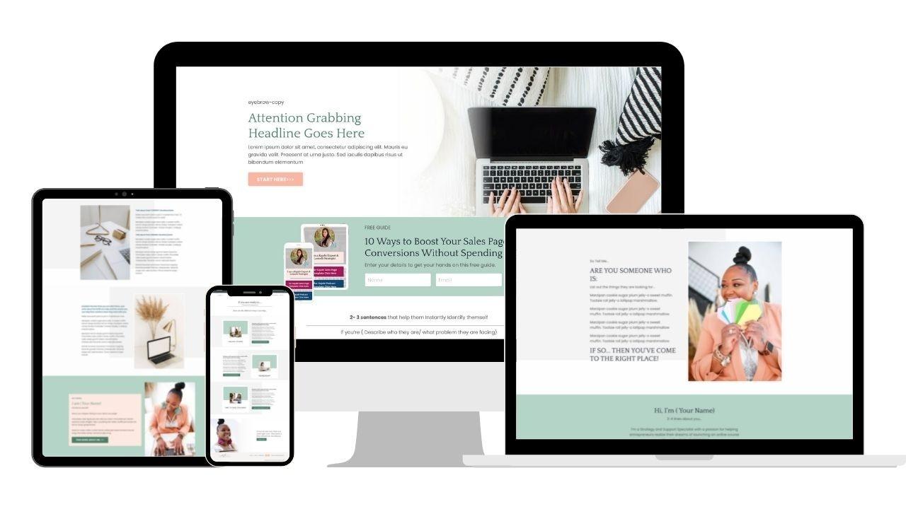 website template kajabi