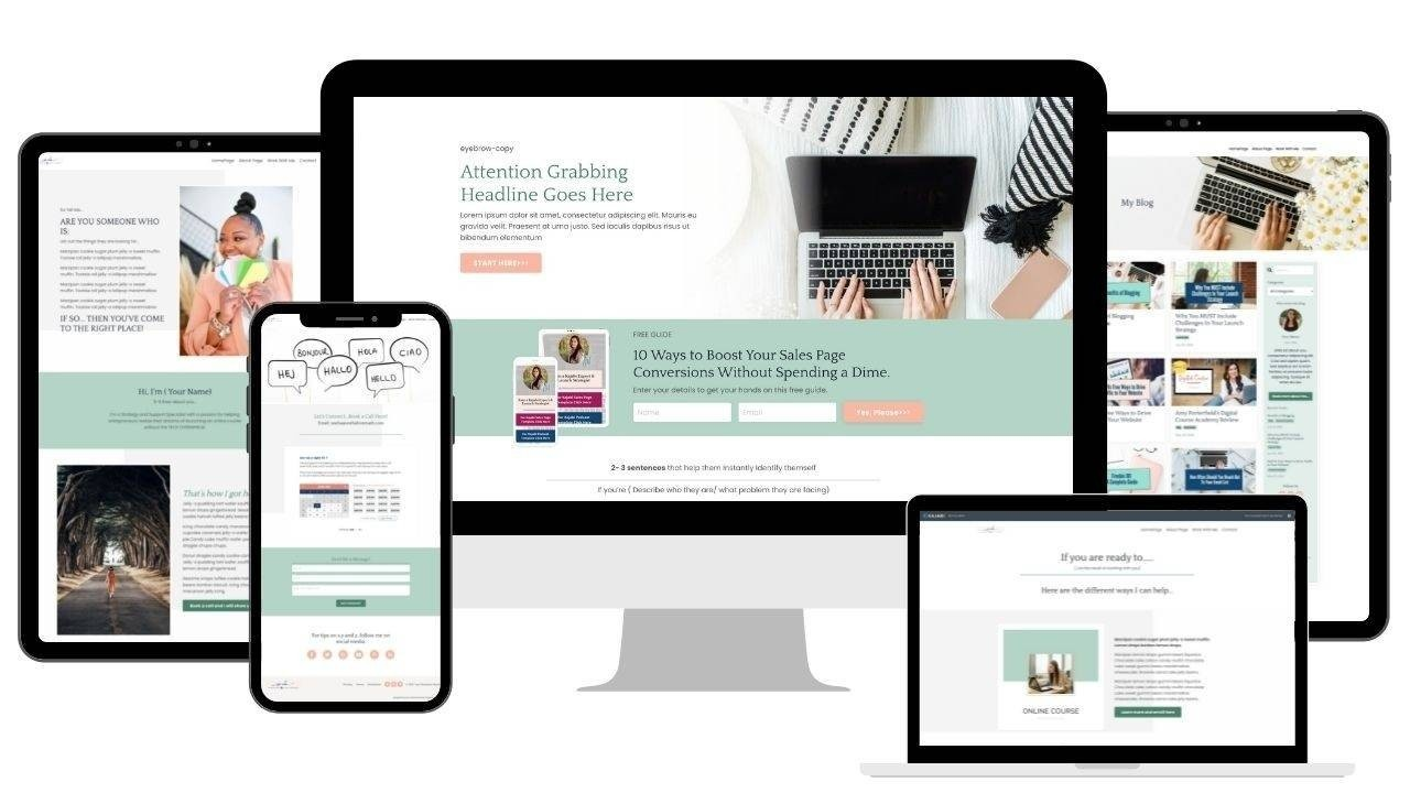 Kajabi Website Template