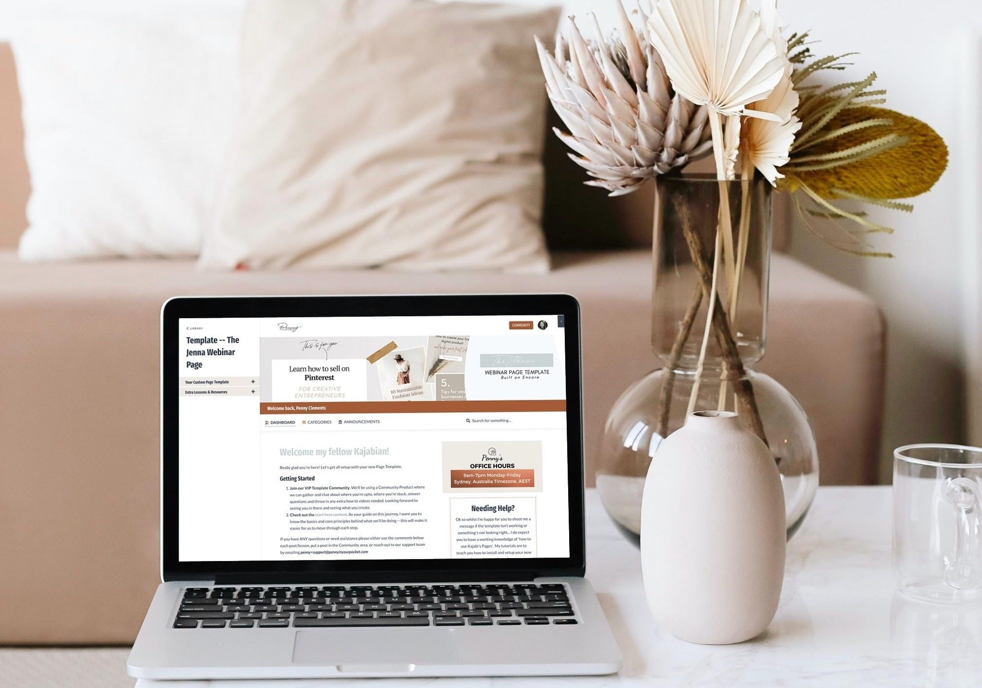 Kajabi Webinar Page Template