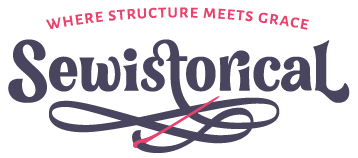 Sewistorical Logo - Where Structure Meets Grace