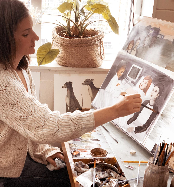 Briana in her studio