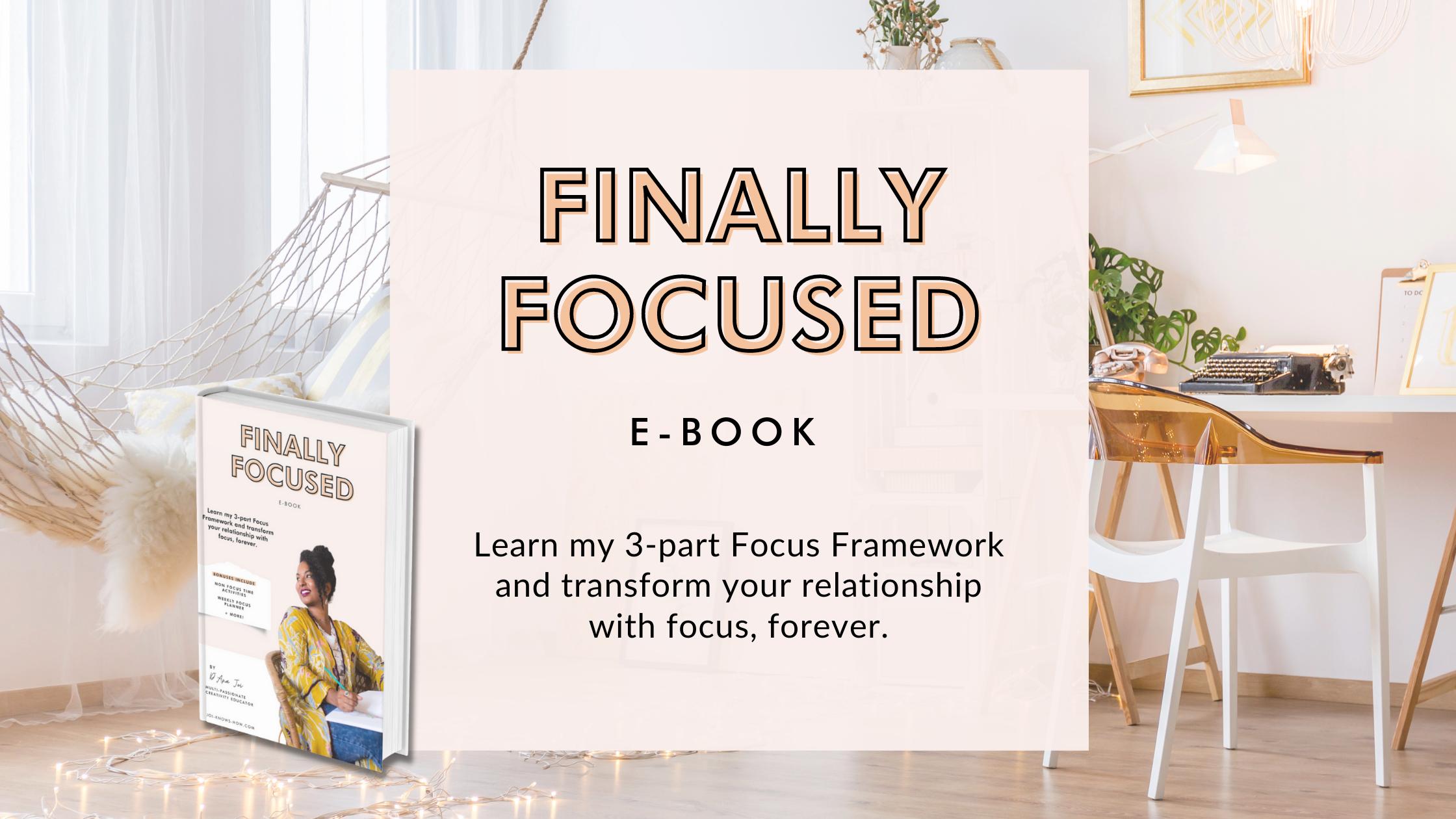 Finally Focused e-book