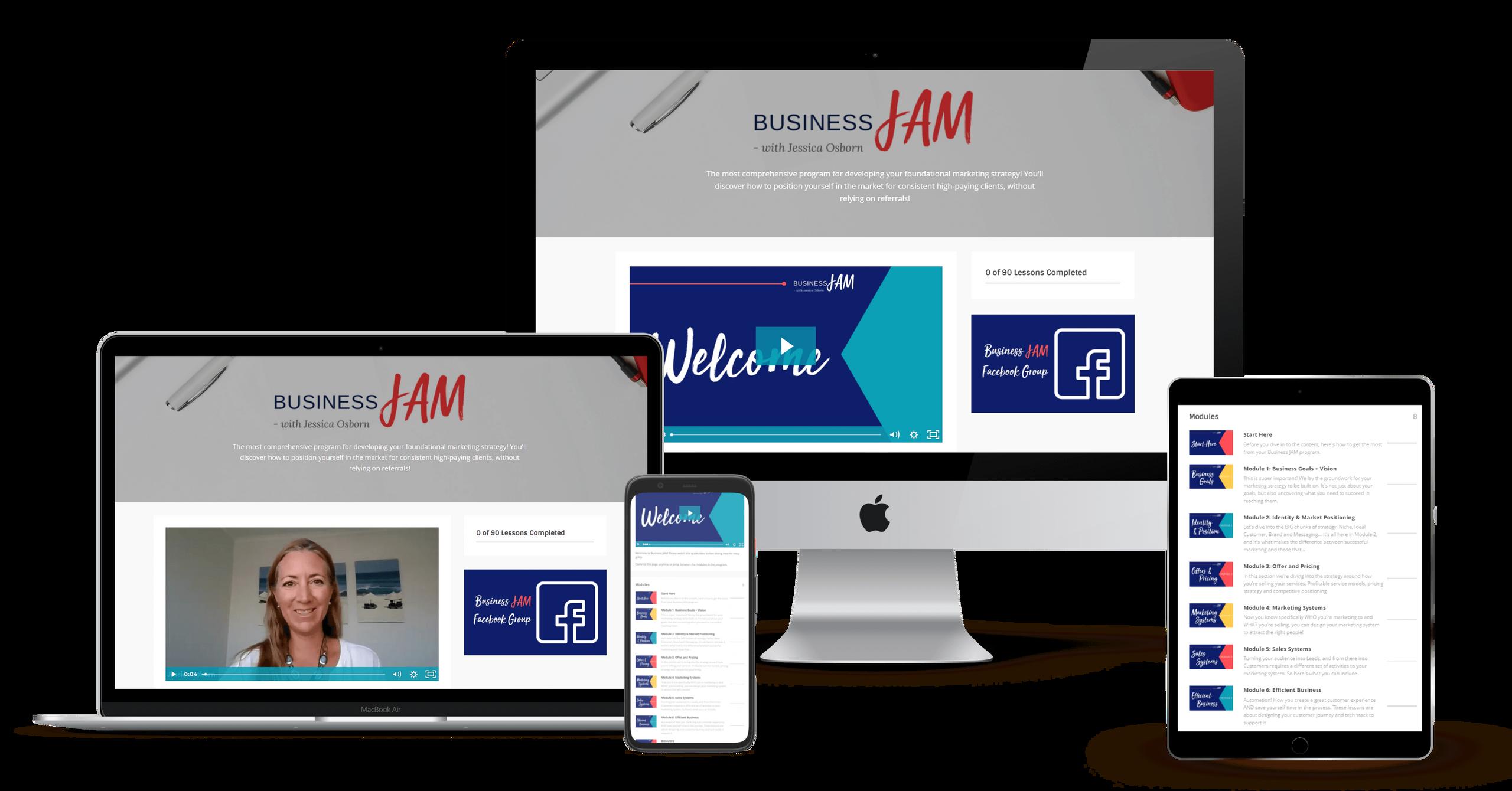 Business JAM program by Jessica Osborn screenshots