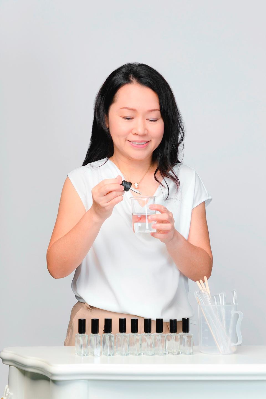 Gladys Tan Mixing Essential Oils