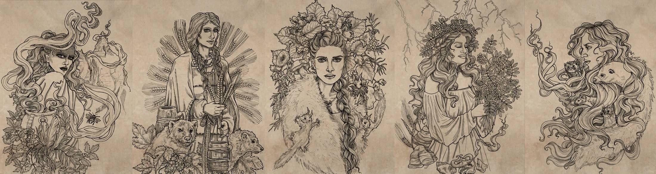Nordic Goddesses from Finland Mythology - image by Tytti Leiwo - Nordic Wisdom