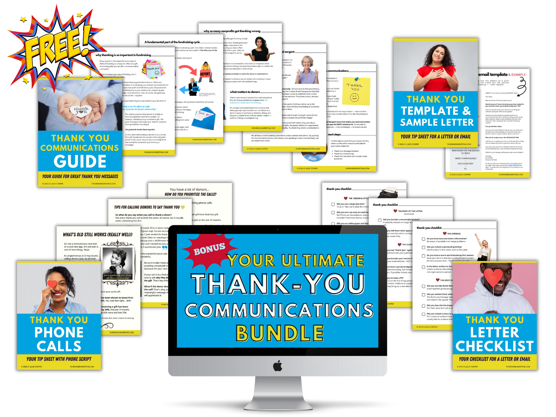 Thank you bundle is made up of 4 guides, checklists, template, and sample.
