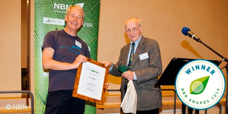 Chris Wood receiving NBN Award 2016