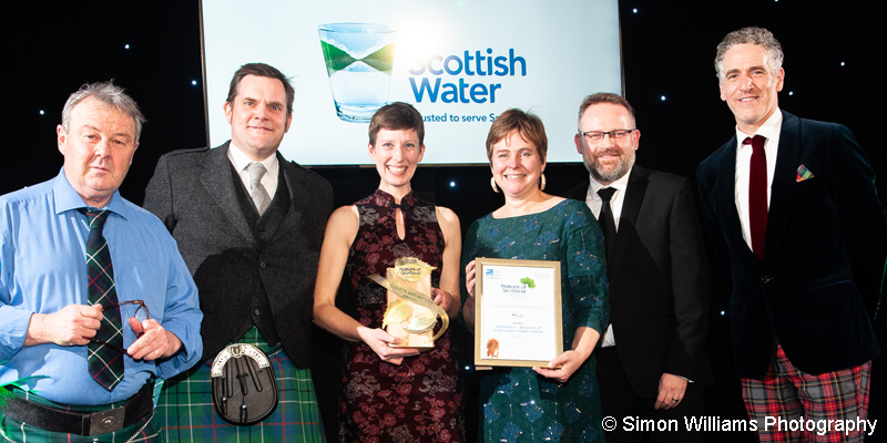 Seasearch team receiving Nature of Scotland Coasts and Water Award in 2019
