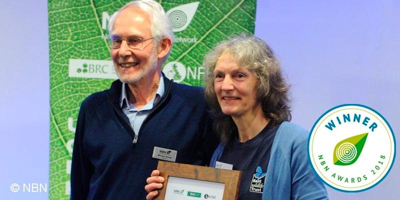 Bryony Chapman receiving NBN Award 2018