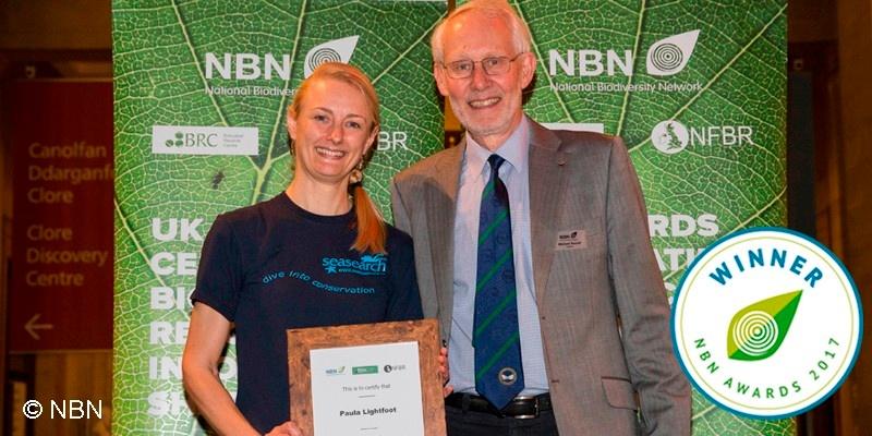 Paula Lightfoot receiving NBN Award 2017