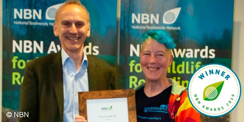 Dawn Watson receiving NBN Award 2019
