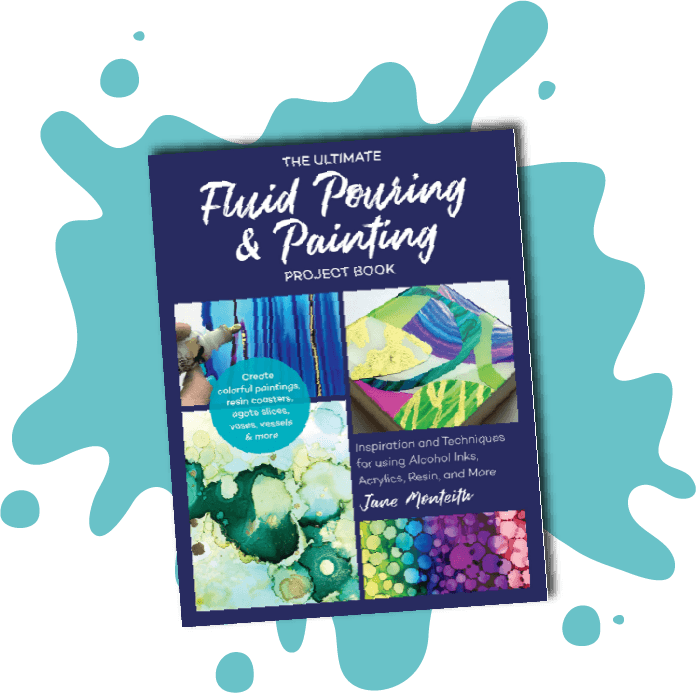 Fluid pouring & painting project book