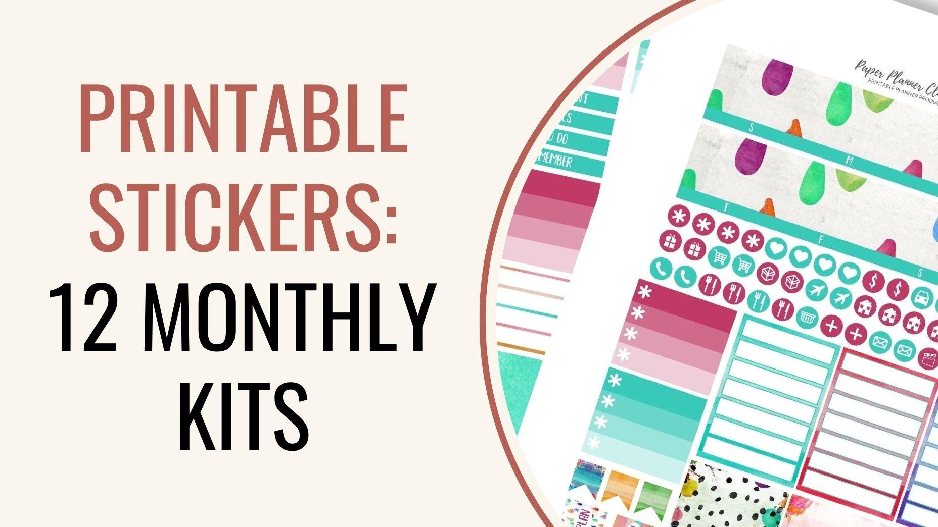 Printables Stickers Bundle
