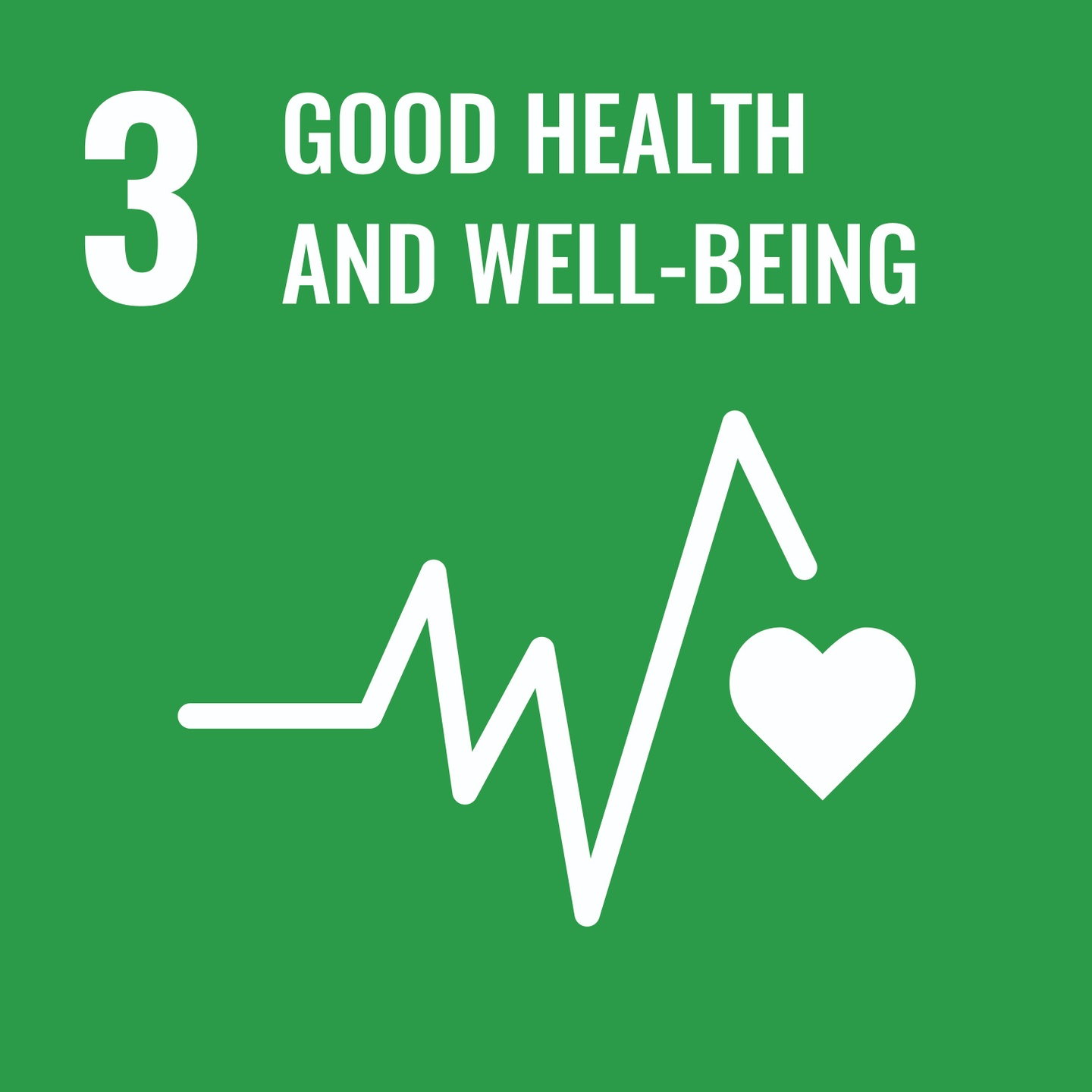 Goal 3, Good Health and Well-Being, of The UN's Sustainable Development Goals (SDGs)
