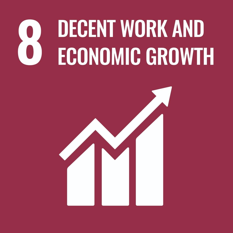 Goal 8, Decent Work and Economic Growth, of The UN's Sustainable Development Goals (SDGs)