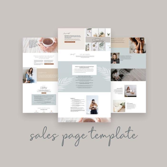 Kajabi Designer Series - Sales Page Template