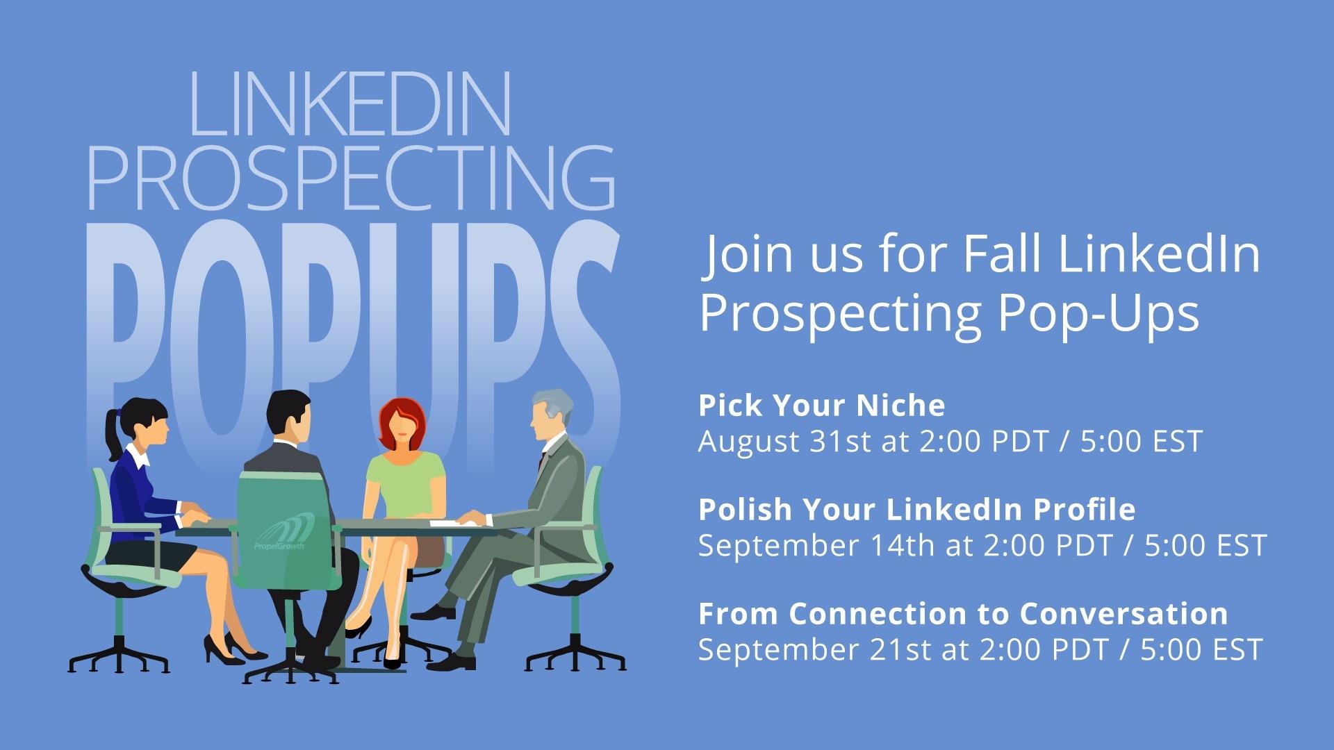 LinkedIn Prospecting Popups