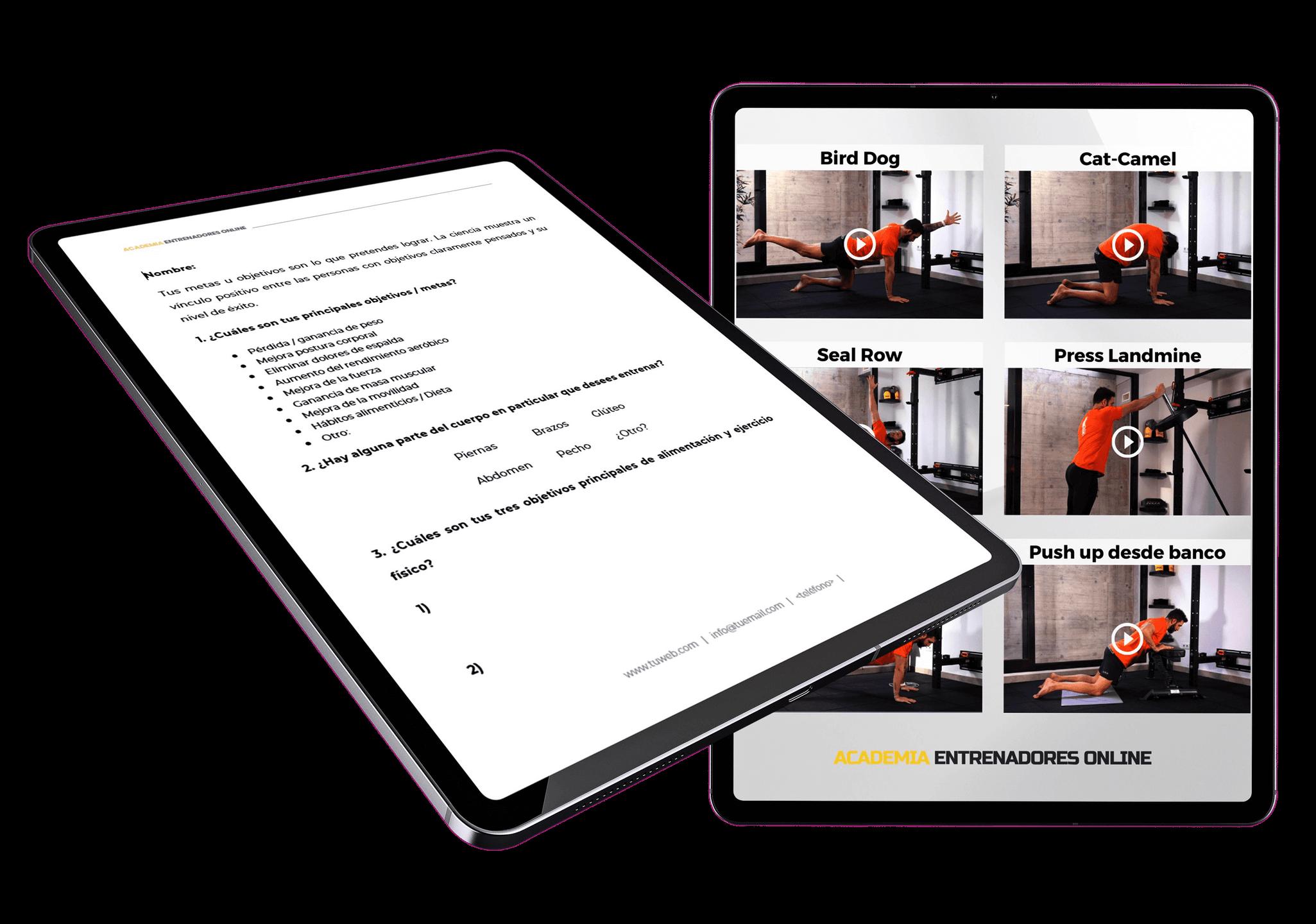 videoteca de ejercicios para entrenadores