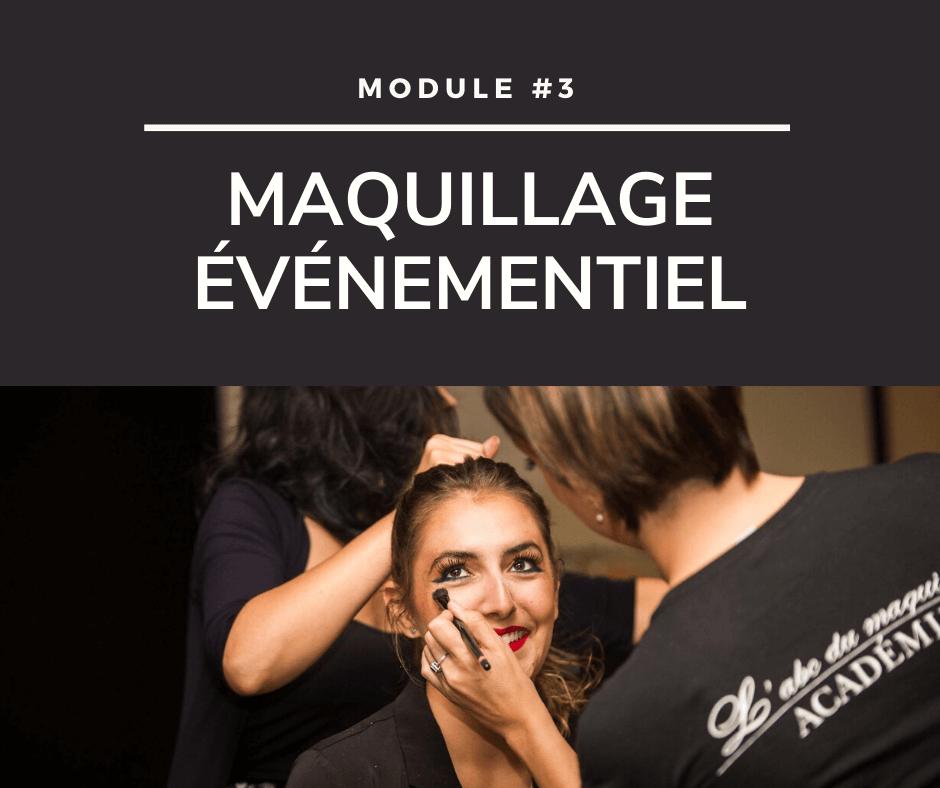 Cours de maquillage - Maquillage événementiel