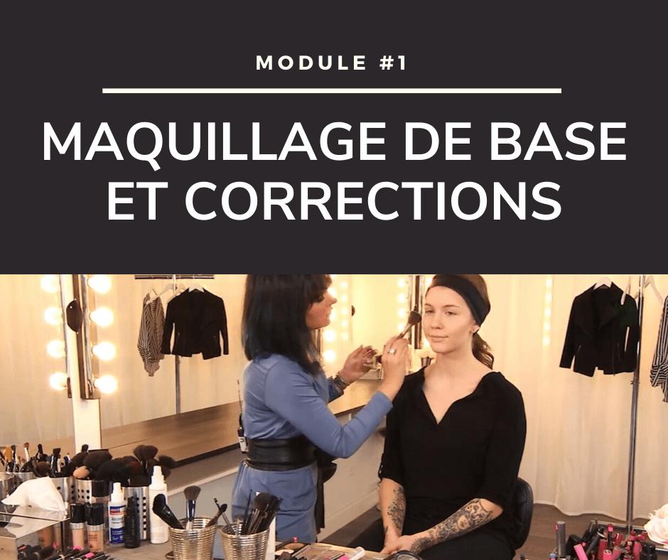 Cours de maquillage - maquillage de base et corrections