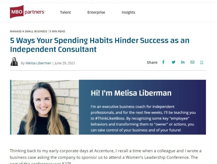Spending for an independent consultant