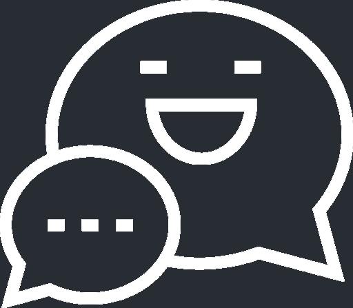 Web Design Happy Chat Icon White