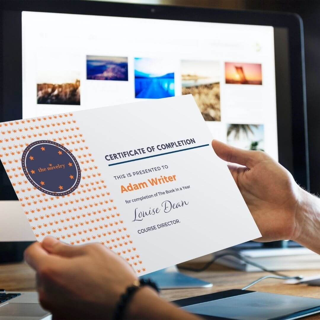 novel writing course certificates