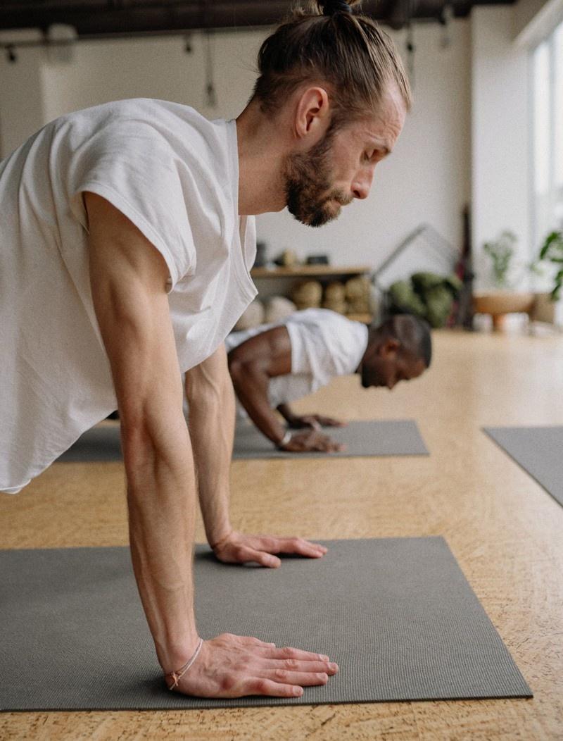 men doing pushups