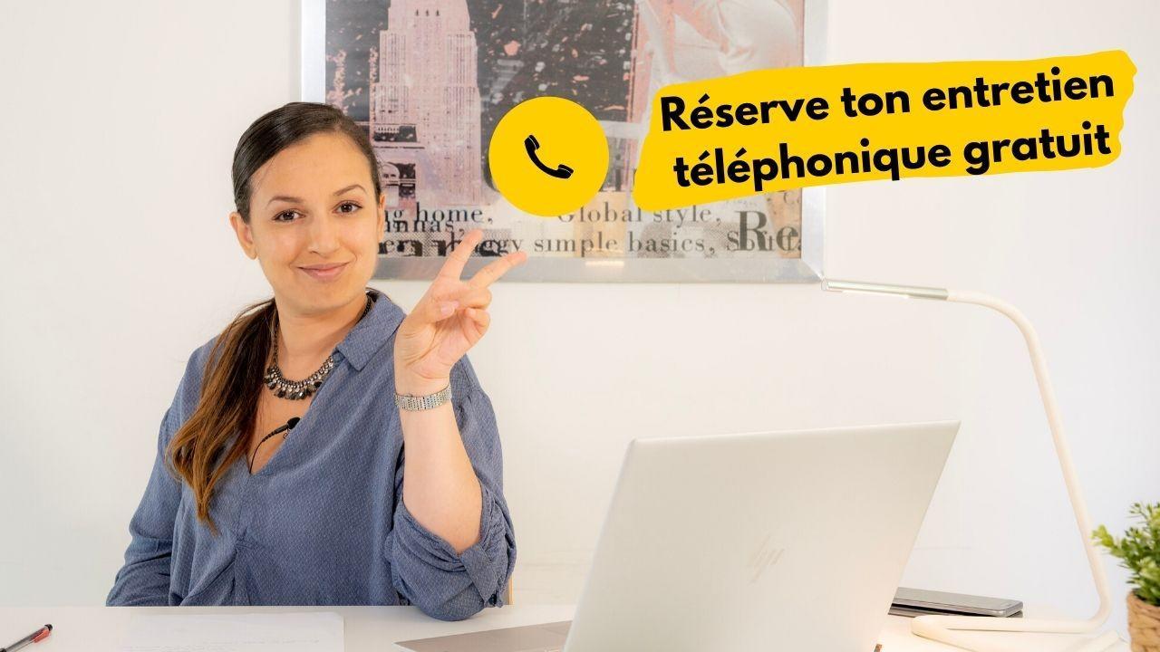 Illustration réserver entretien téléphonique