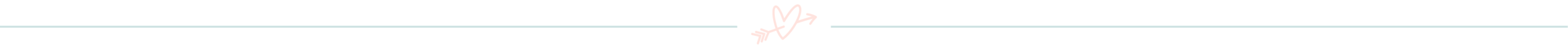 blue divider line with pink heart