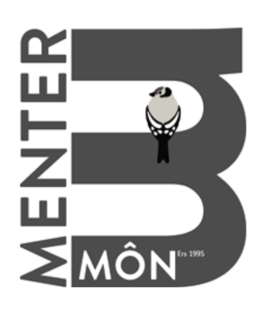 Menter Mon logo in dark grey links to Mentor Mon Website